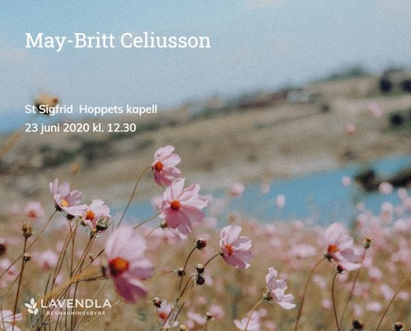 Inbjudningskort till ceremonin för May-Britt Celiusson