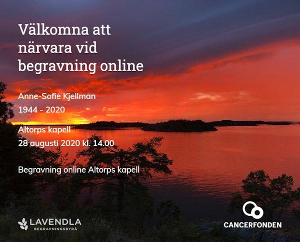 Inbjudningskort till ceremonin för Anne-Sofie Kjellman