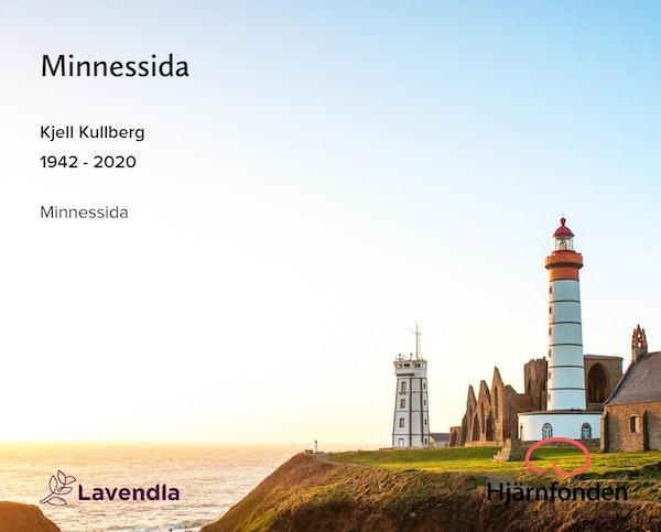 Inbjudningskort till ceremonin för Kjell Kullberg
