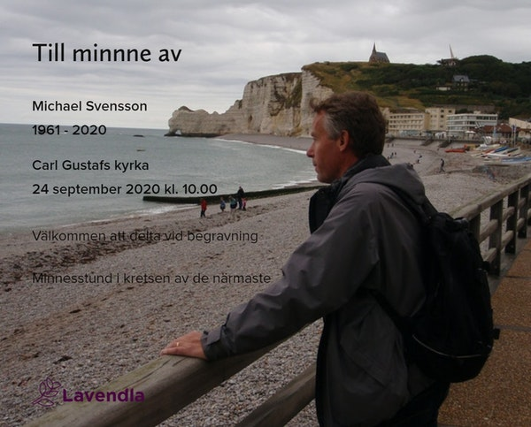 Inbjudningskort till ceremonin för Michael Svensson
