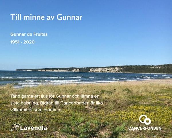 Inbjudningskort till ceremonin för Gunnar de Freitas