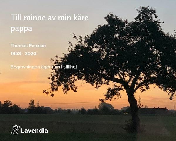 Inbjudningskort till ceremonin för Thomas Persson