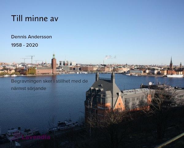 Inbjudningskort till ceremonin för Dennis Andersson