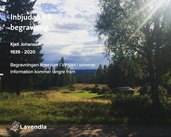 Inbjudningskort till ceremonin för Kjell Johansson