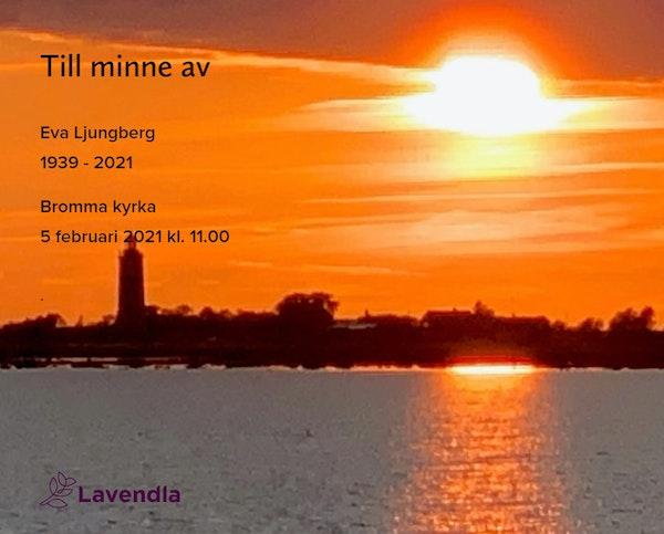 Inbjudningskort till ceremonin för Eva Ljungberg