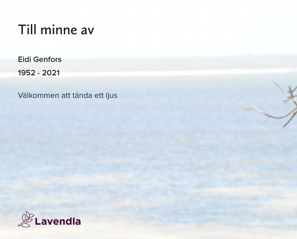 Inbjudningskort till ceremonin för Eidi Genfors