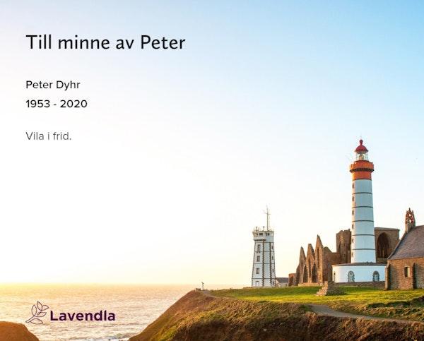 Inbjudningskort till ceremonin för Peter Dyhr