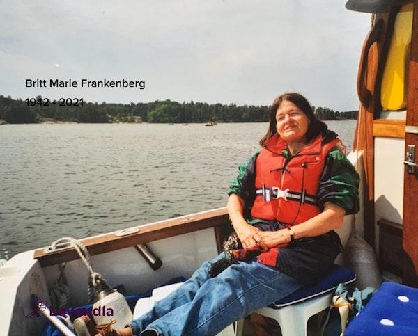 Inbjudningskort till ceremonin för Britt Marie Frankenberg