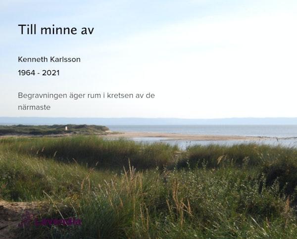 Inbjudningskort till ceremonin för Kenneth Karlsson
