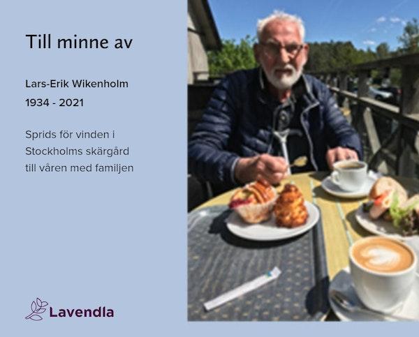 Inbjudningskort till ceremonin för Lars-Erik Wikenholm