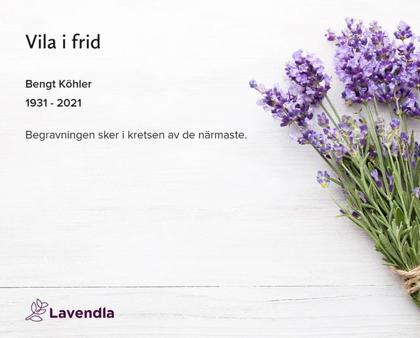 Inbjudningskort till ceremonin för Bengt Köhler