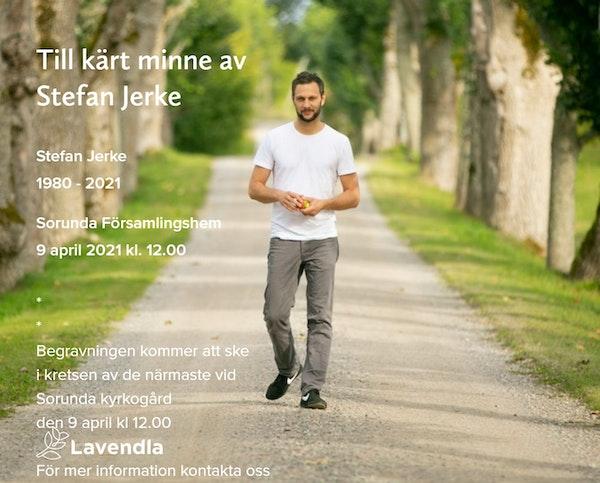 Inbjudningskort till ceremonin för Stefan Jerke